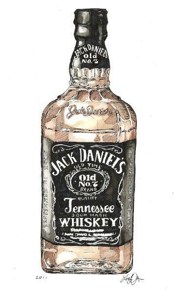 Jack Daniels Whiskey By Gingercookie91 On Etsy 10 00 Muzhskie Kartiny Modnaya Illyustraciya Muzhchiny Alkogolnye Napitki