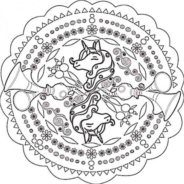 mandala zum ausdrucken mia and me 3  malvorlage einhorn
