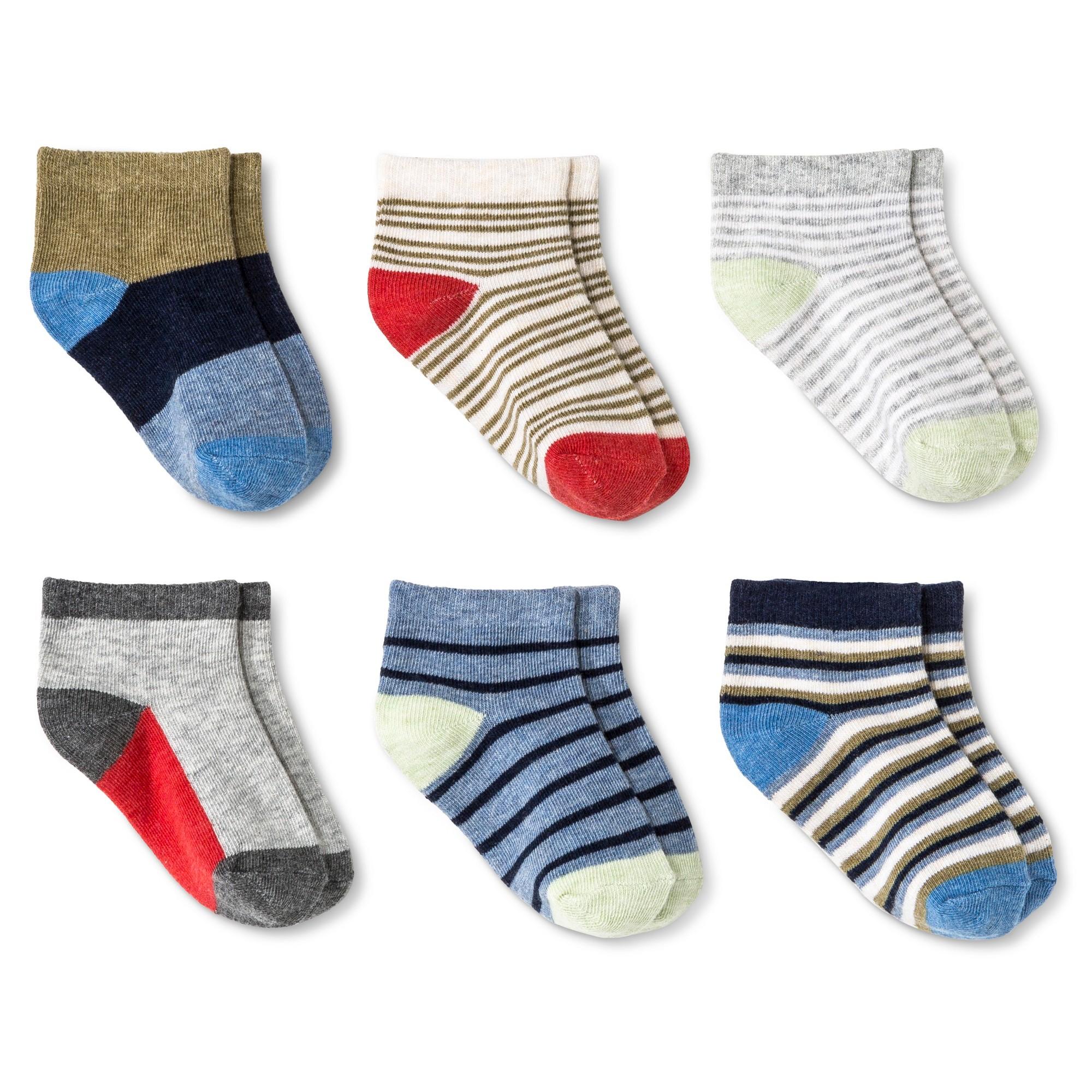 Baby Boys Multicolored Stripe Low Cut Dress Socks 6 pk Circo