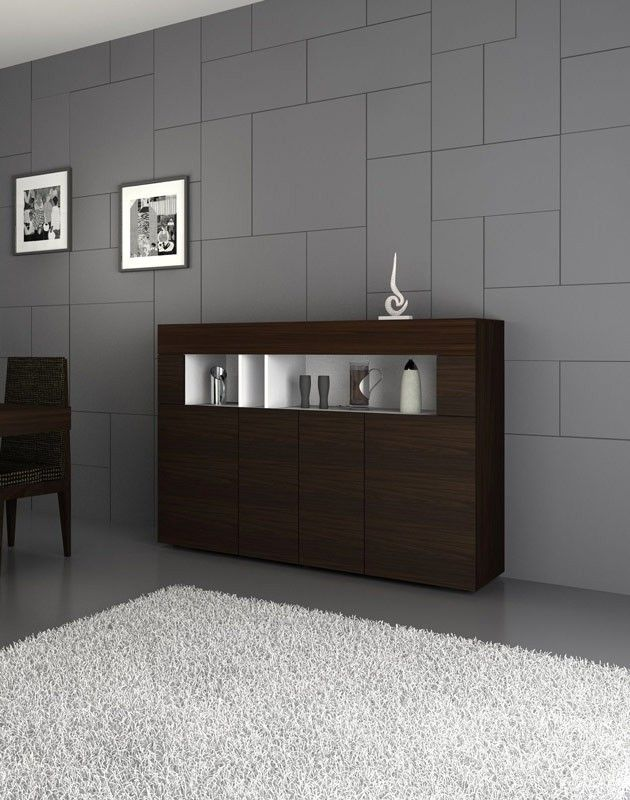 Aura Modern Tobacco Buffet Dining rooms, Doors and Modern sideboard