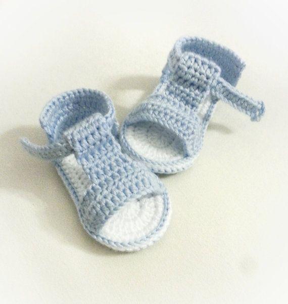 Sandalias de bebé de ganchillo ganchillo zapatos de bebé por NDWear ...