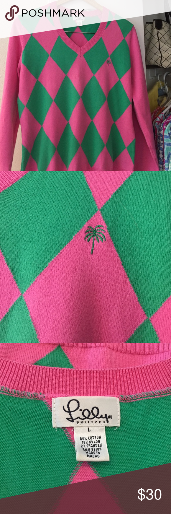 Lilly Pulitzer Argyle Sweater | Conditioning and Customer support