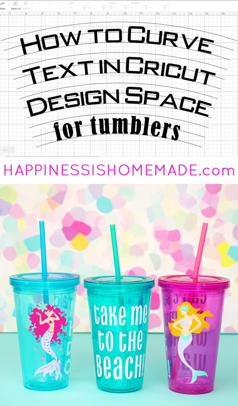 How to Curve Text for Tumblers in Design Space