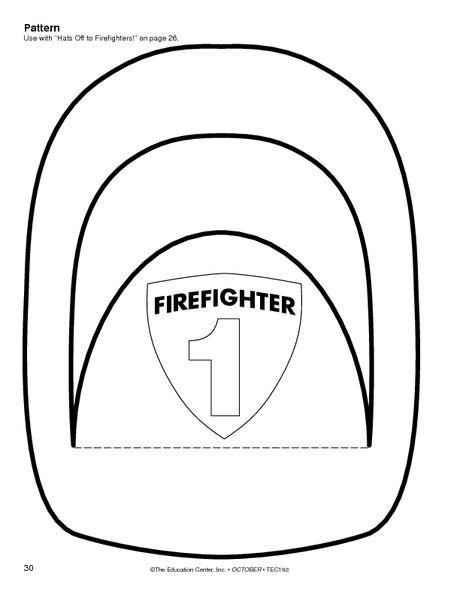 Fire fighter hat social studies pinterest fire for Firefighter hat template preschool