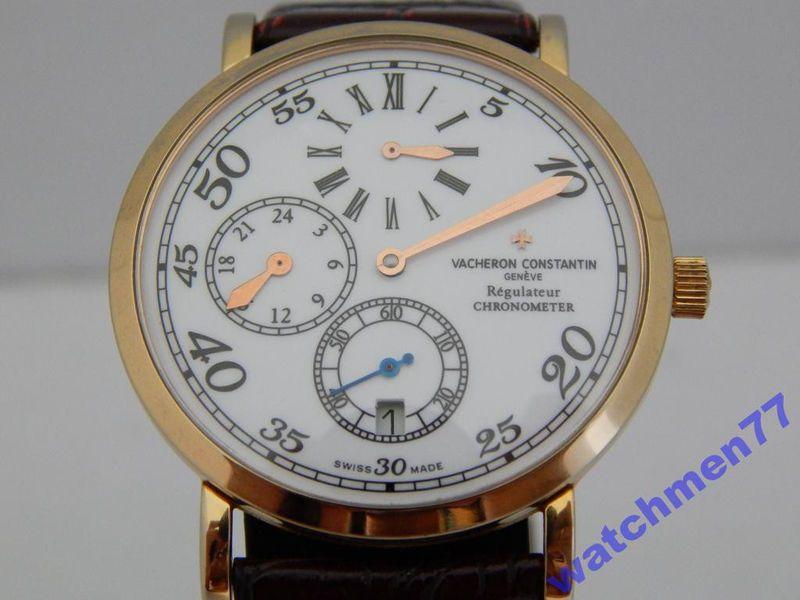 Gold Vacheron Constantin Perpetual Calendar Chronometer Geneve