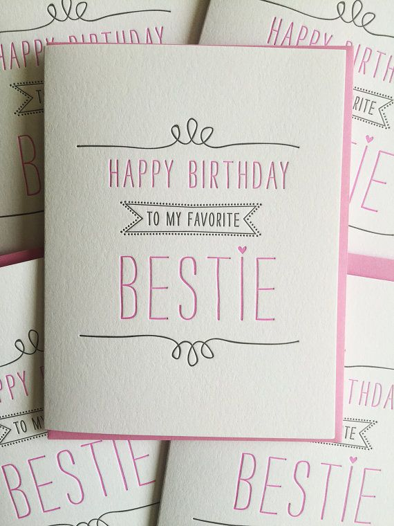 birthday card for best friend card best friend birthday card letterpress birthday card for. Black Bedroom Furniture Sets. Home Design Ideas