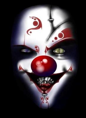Crazy Psychotic Clown Evil Clowns Halloween Make Up Evil