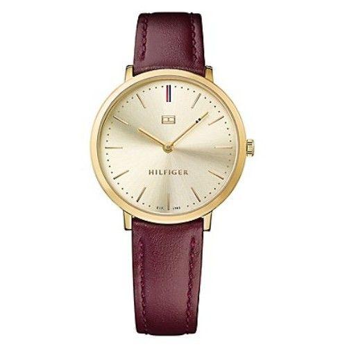 5d50f14ec03 Relógio Tommy Hilfiger Feminino Couro Vinho - 1781692