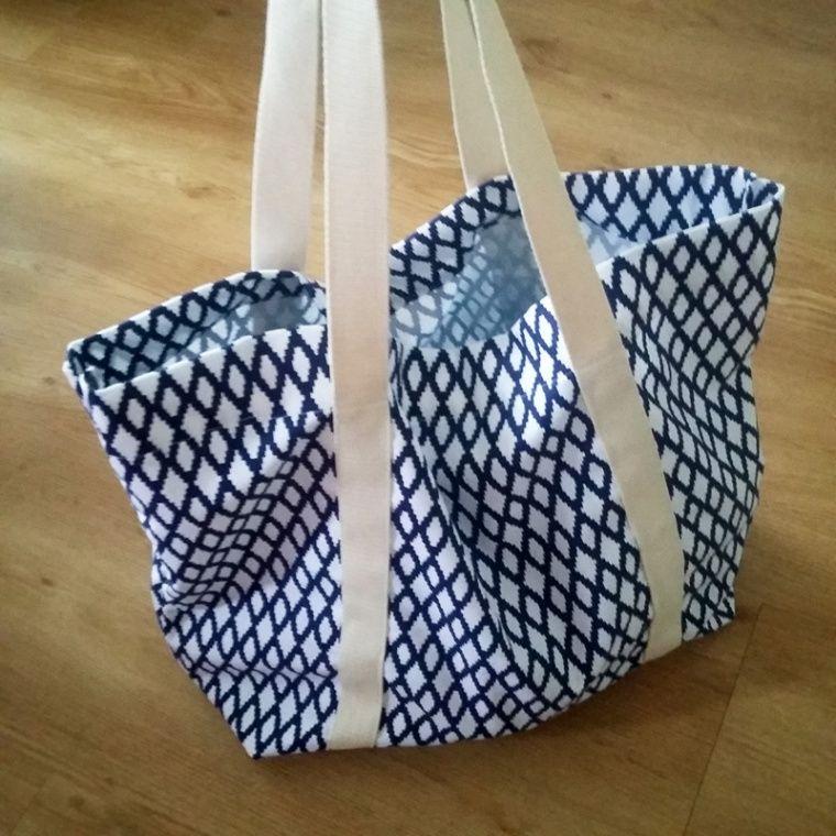 mon sac de plage diy couture couture sewing couture. Black Bedroom Furniture Sets. Home Design Ideas
