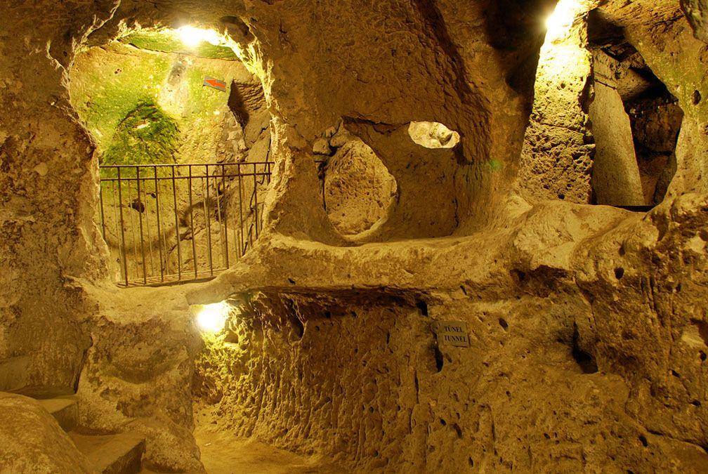 Derinkuyu And The Underground Cities Of Cappadocia Turkey Ancient Underground City Underground Cities Underground