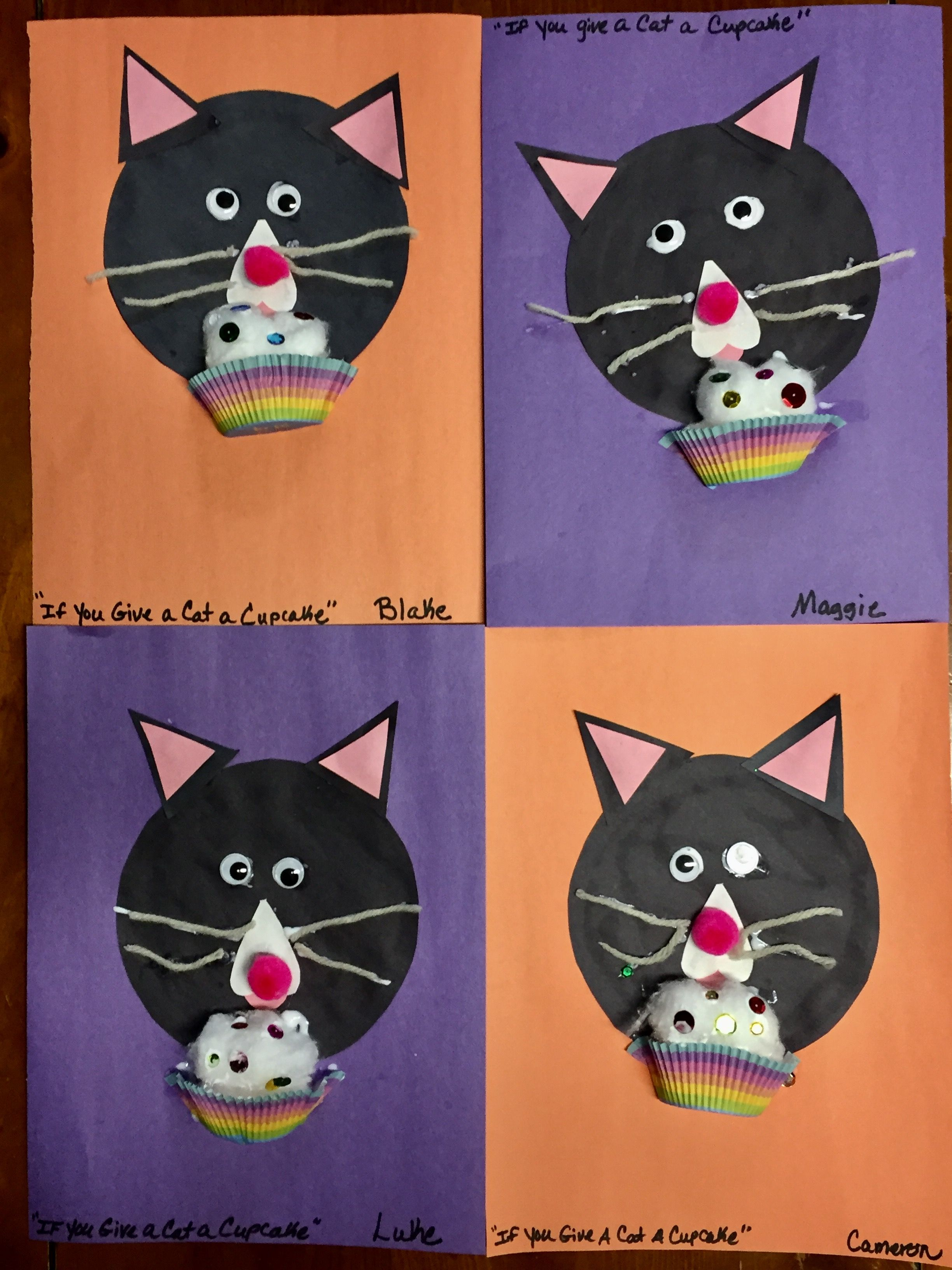 If You Give A Cat A Cupcake Craft Cat Crafts Preschool Pets