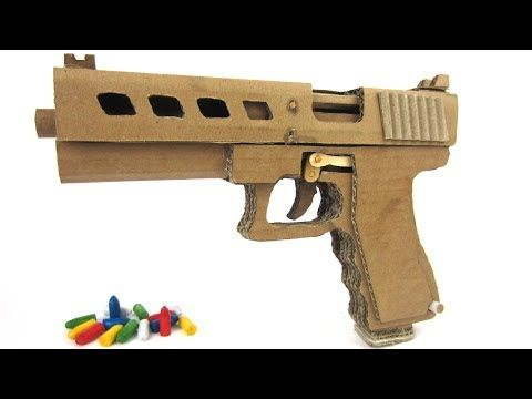 how to make glock 19 that shoots bullets cardboard gun. Black Bedroom Furniture Sets. Home Design Ideas