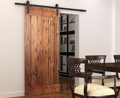 Details About Diyhd Rustic Black Bent Straight Sliding Barn Door