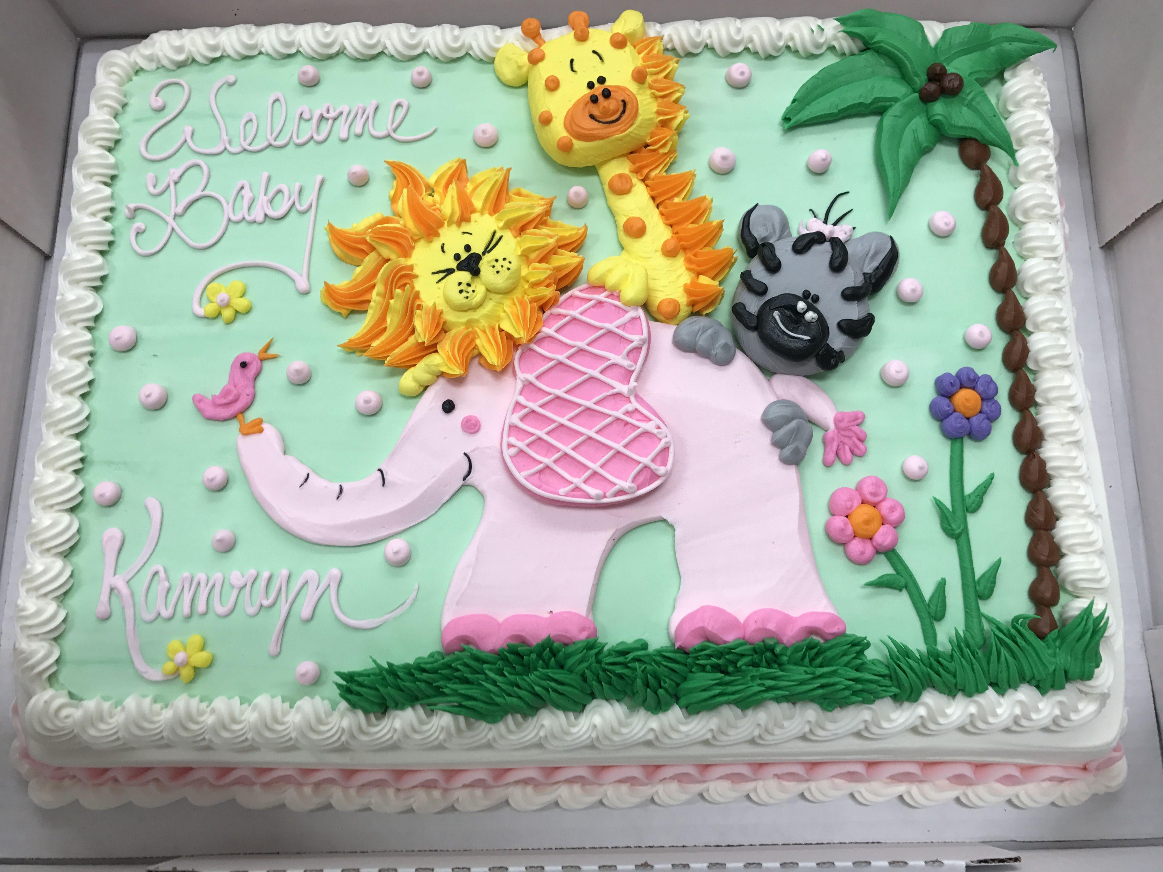 Jungle Baby Shower Cake Bakery Cakes In 2019 Cake