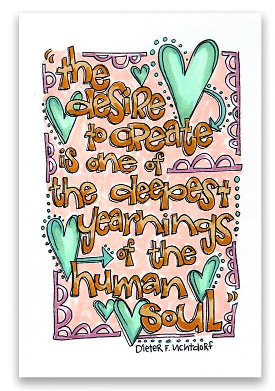 """The Desire to Create"" by Suzy Plantamura for Creating Keepsakes magazine. #scrapbook #scrapbooking"