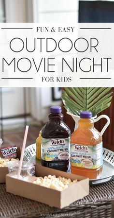 how to host an easy movie night at home for kids tropical party
