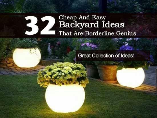 Easy+Inexpensive+Backyard+Ideas | 32 cheap and easy backyard ideas on inexpensive patio lighting ideas, inexpensive kitchen lighting ideas, inexpensive basement lighting ideas,
