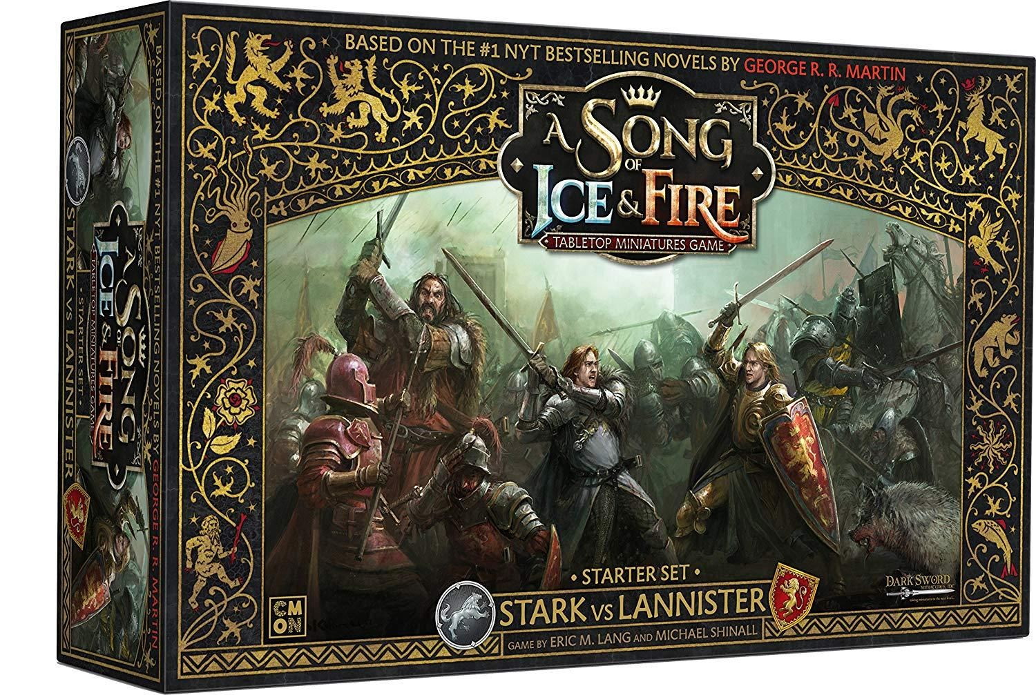 Cmon A Song Of Ice Fire Stark Vs Lannister Miniatures Board