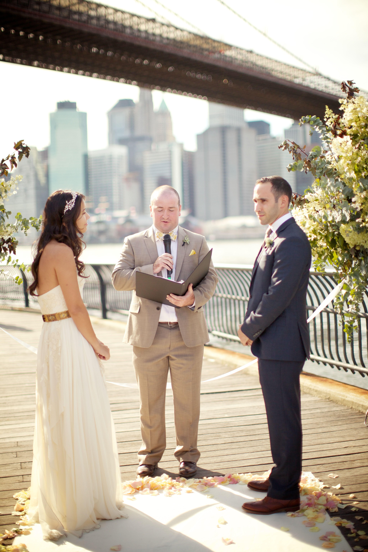 Wedding dresses brooklyn  Brooklyn Bridge Park Wedding  boda  Pinterest  Wedding Park