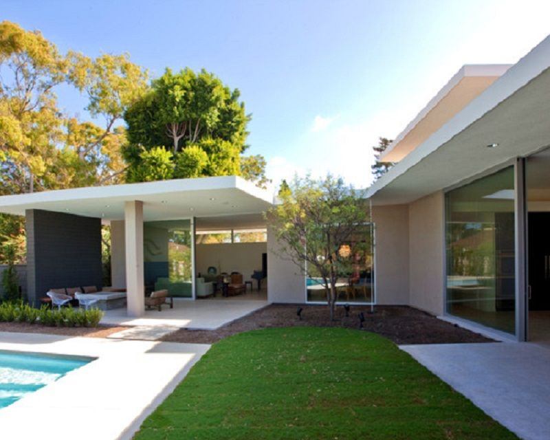 Custom Modern Flat Roof Covered Patio Ideas Modern Patio