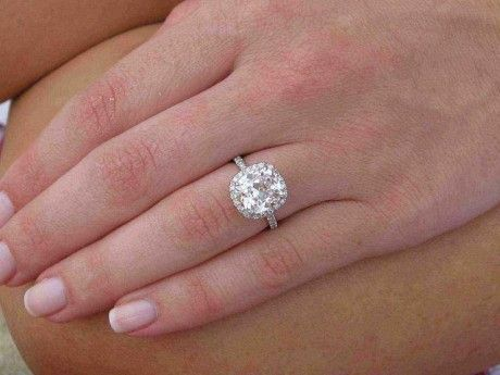 Center Diamond is 3.2 Carats... this is what I want lol. Tiffany Engagement  RingsPave ...