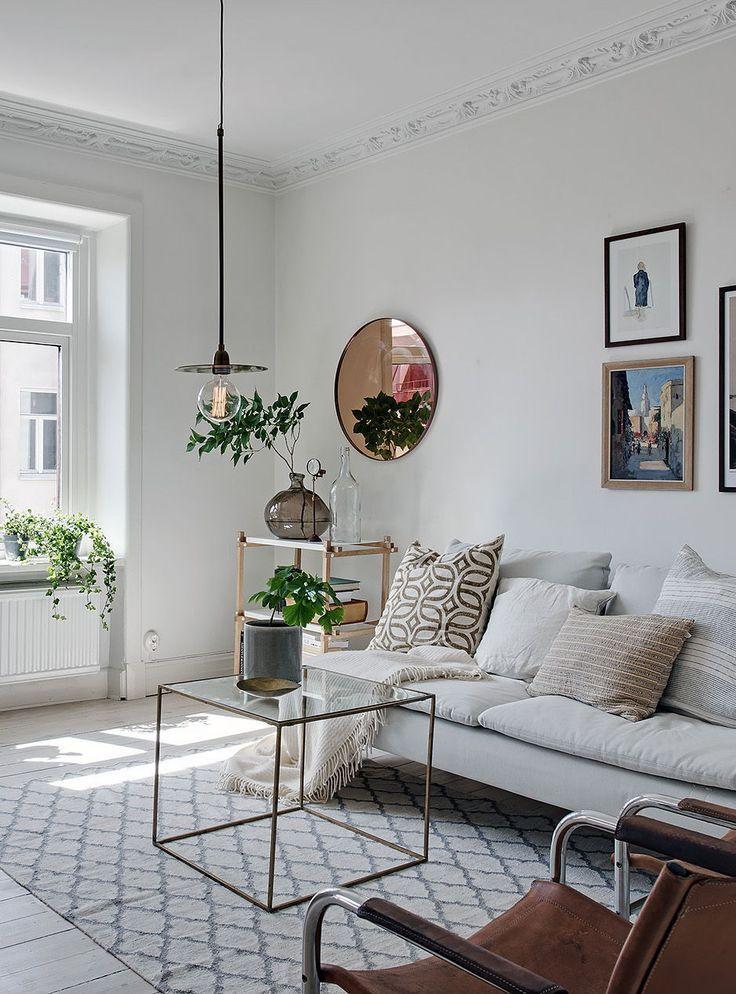 Living Room Light Filled Apartment In White Via Coco Lapine Design Simple Apartment Design Blog
