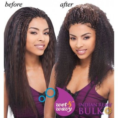 Janet Collection Indian Remi Wet Wavy Human Hair Afro Jerry