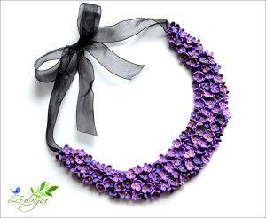 Colier cu flori de liliac
