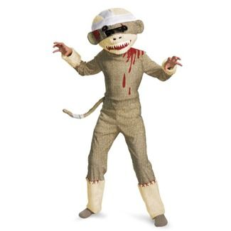 A costume combining two of the best things ever - sock monkeys and zombies.
