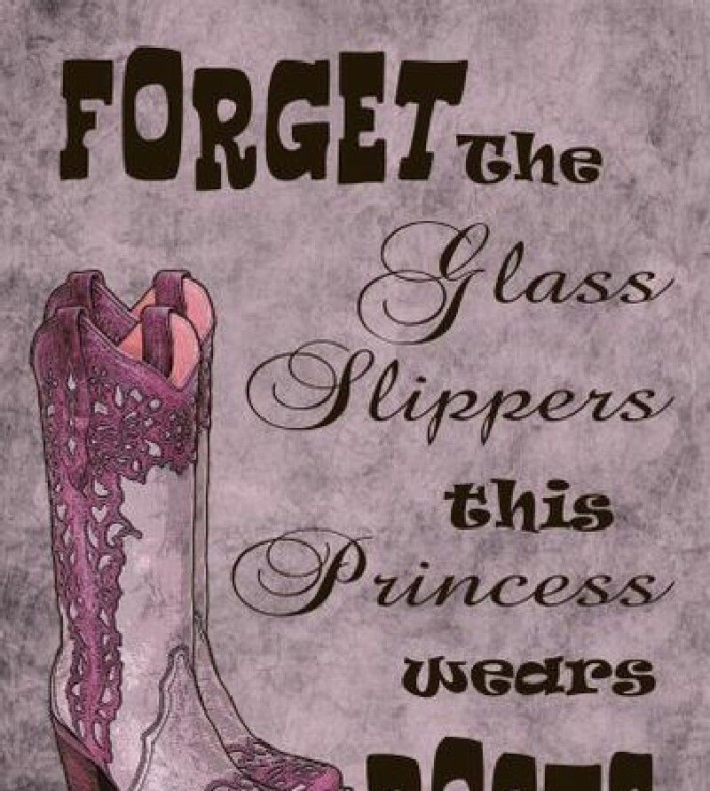 Cowgirl HOODY FORGET glass slippers this princess WEARS BOOTS Ladies Horse