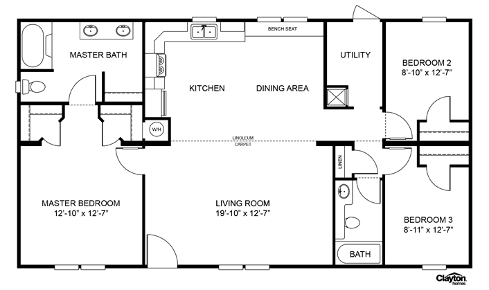 Pin By Darlene Slone On For The Future Home Clayton Homes House Floor Plans Modular Floor Plans