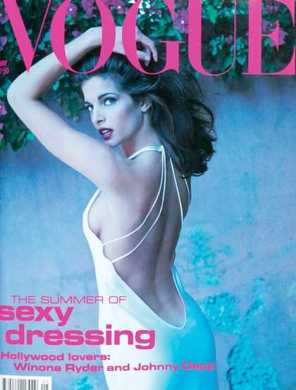 the vogue of my birth month. Vogue - Stephanie Seymour - May, 1991