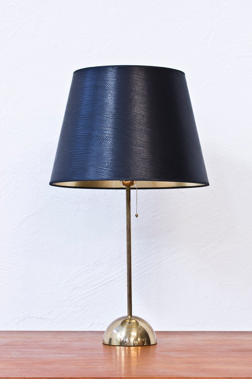 1960s Bergboms Brass Table Lamp By Modernisten Polished Brass Table