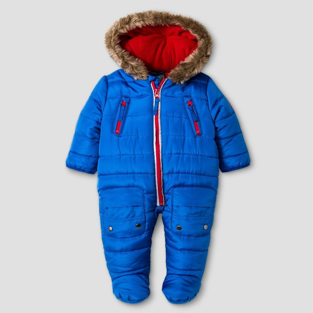 19feecbbe Baby Boys' Rbx Puffer One-Piece Snowsuit Navy (Blue) | Products ...