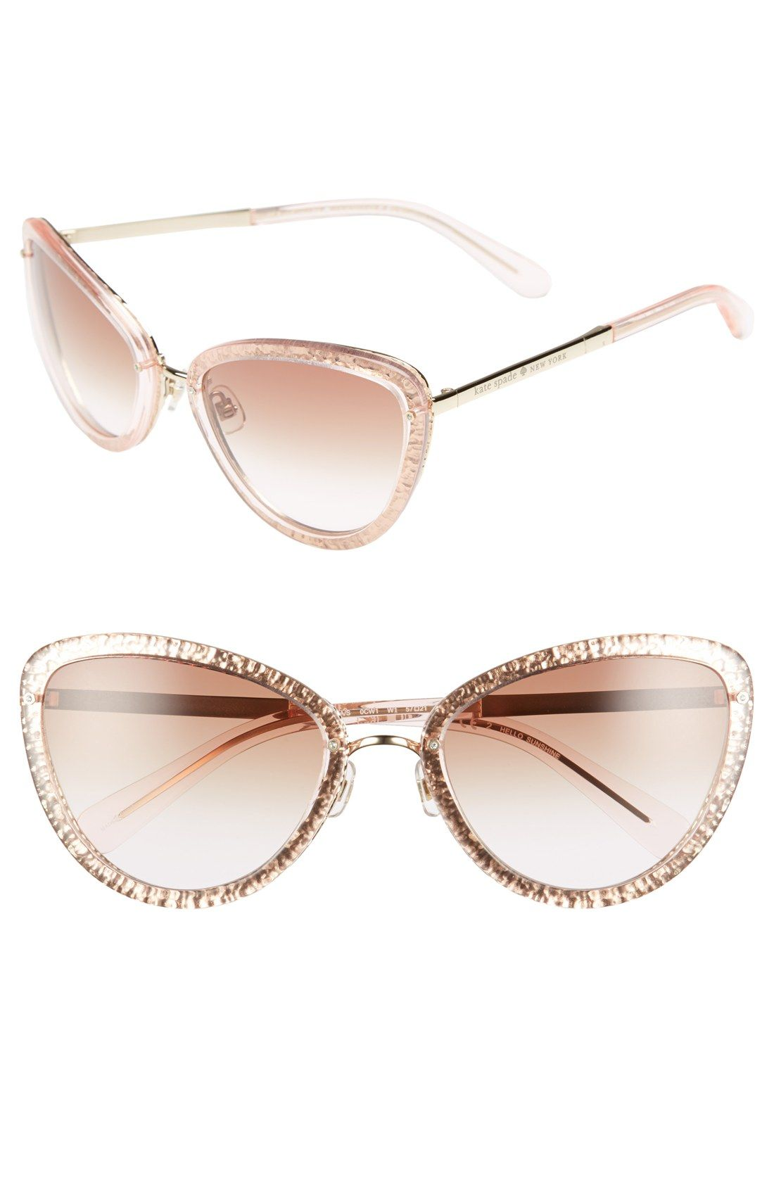 Loving these glitter-infused Kate Spade frames in an exaggerated cat ...