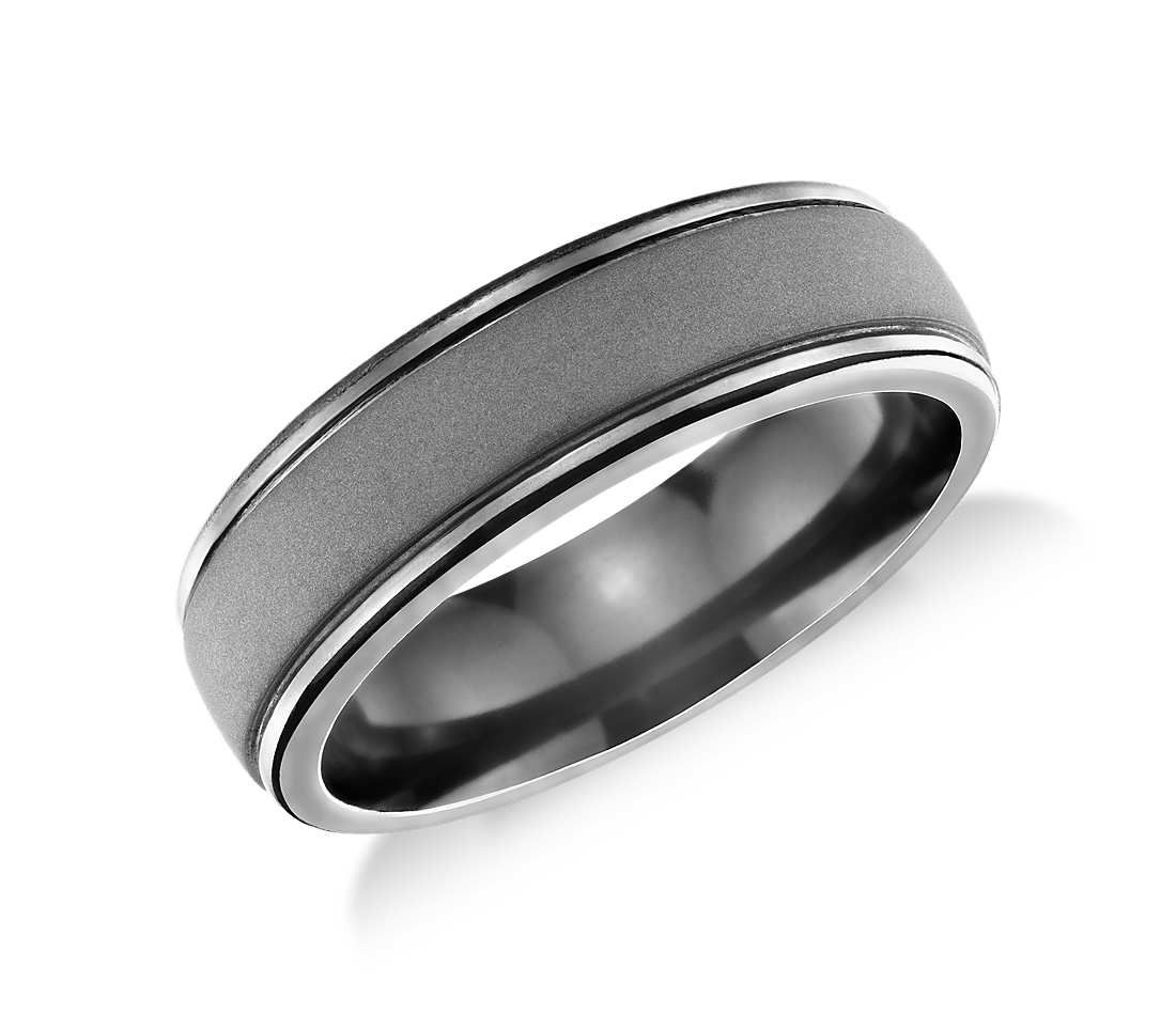 Matte Finish Wedding Ring In Tantalum 7mm Blue Nile Mens Wedding Rings Unique Diamond Engagement Rings Matte Finish Wedding Ring