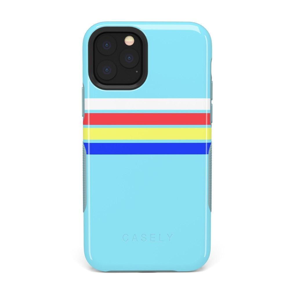 Teal Rainbow Stripes Color Block Case