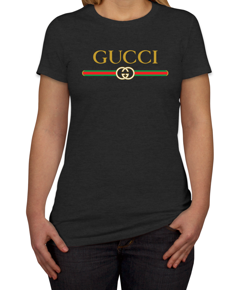 7a0c96dc1 Gucci Logo Print Women's T-Shirt in 2019   TEEFLAT   Gucci shirt ...