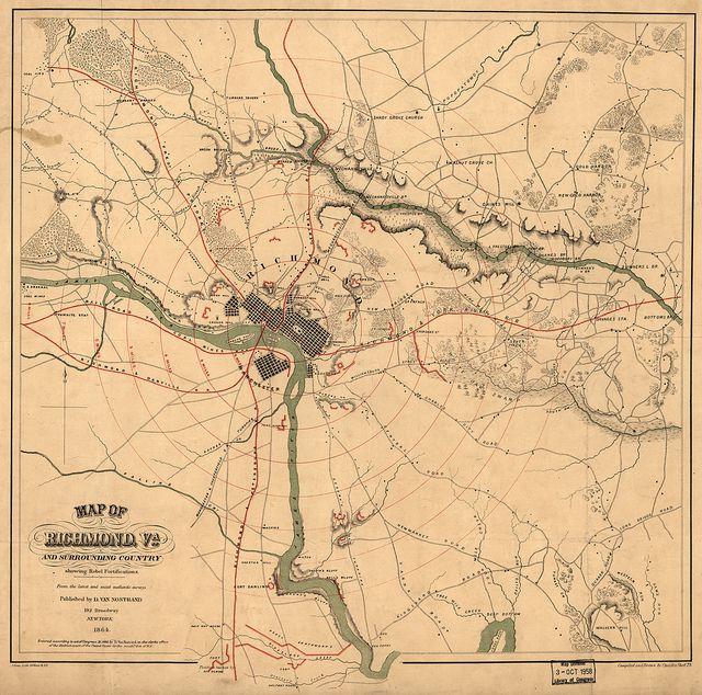 Richmond 1865 Ny Daily Trib Maps Pinterest Virginia History
