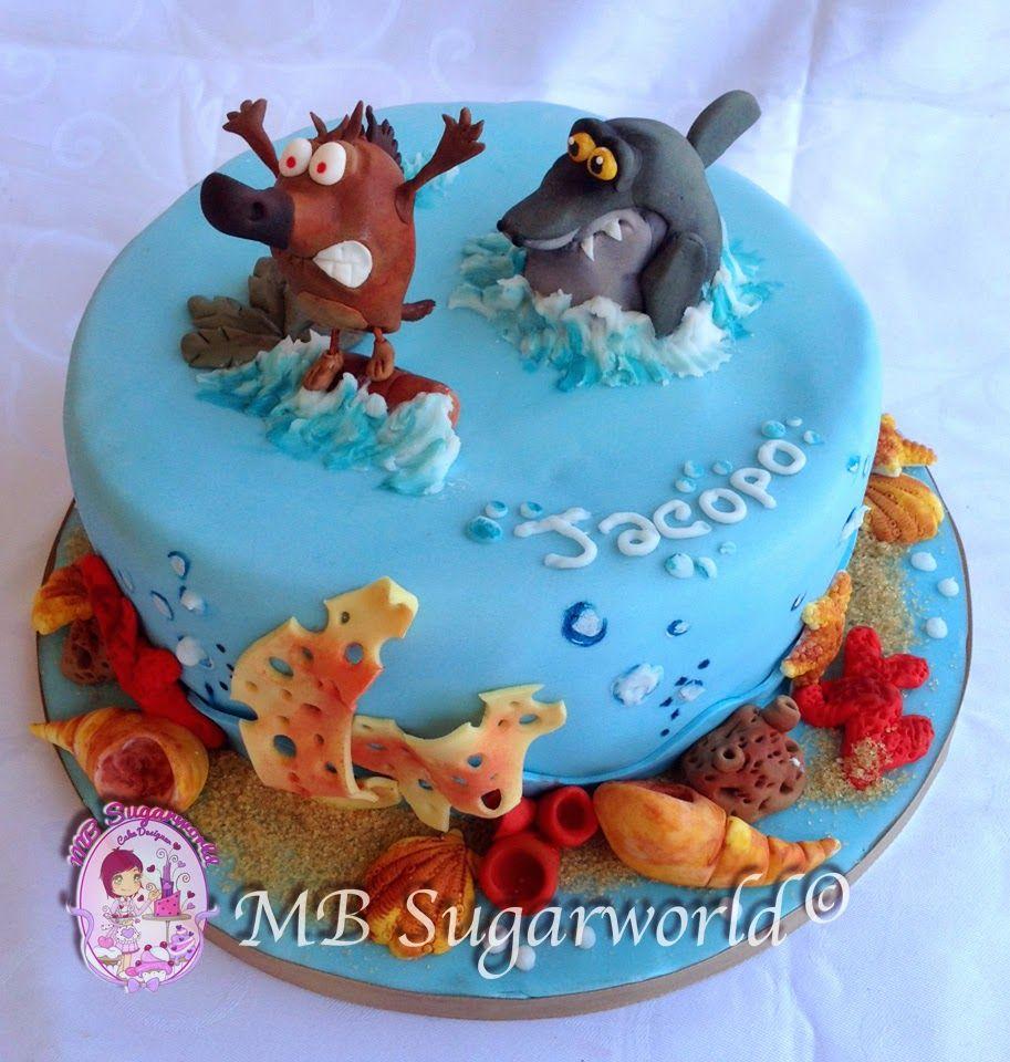 Zick sharko cake cartoons and films 39 cake pinterest for Zig e sharko