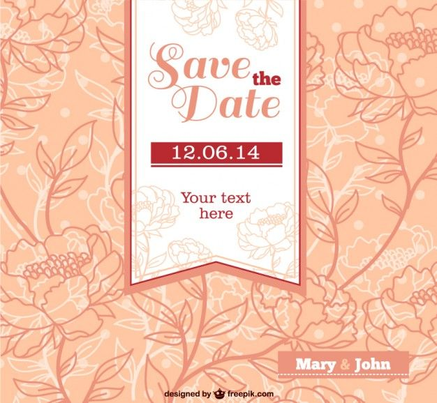 Wedding invitation vector with flowers dn temal pinterest wedding invitation vector with flowers stopboris Gallery