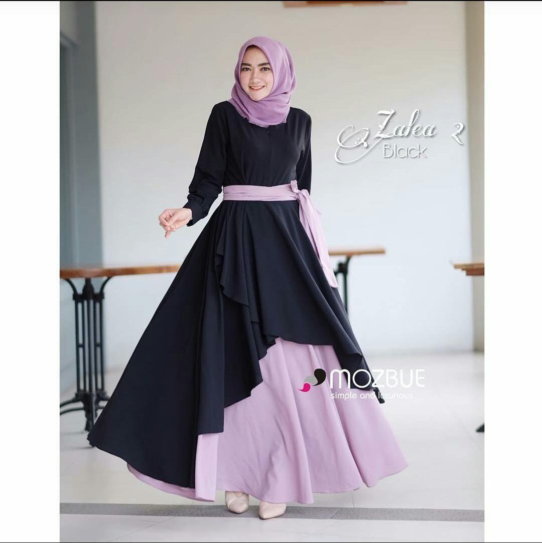Model Gamis Polos 12 Terbaru – Ragam Muslim  Gaya hijab, Model