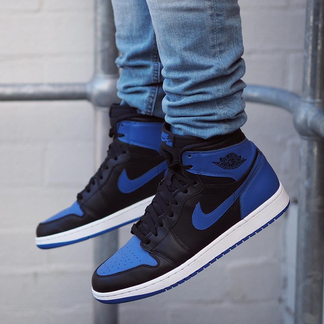 Air Jordan 1 Retro High Og Royal Mens Sneaker Boots Sneakers