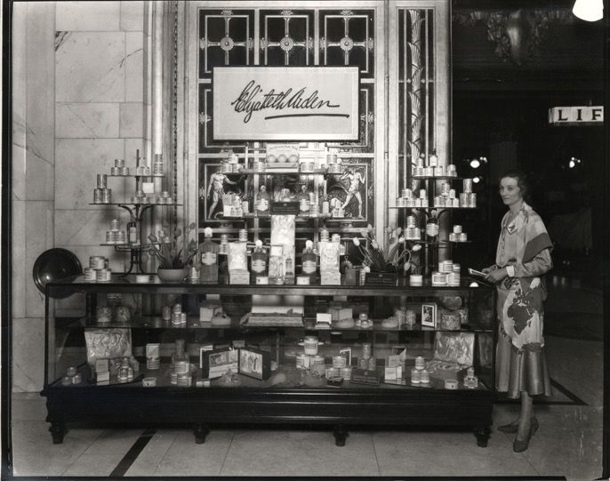 76a0ce0bd38bc The Elizabeth Arden counter in the beauty hall at Selfridges London ...