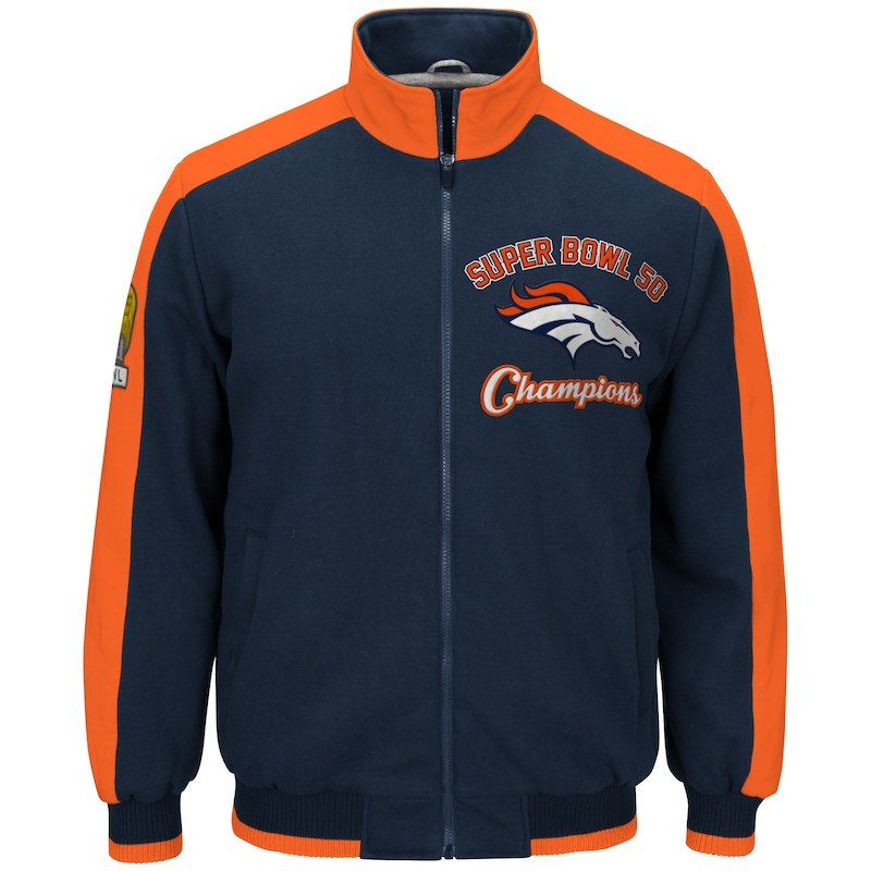 db30568ea Denver Broncos G-III Sports by Carl Banks Super Bowl 50 Champions  Commemorative Fleece Polyfilled Jacket - Navy