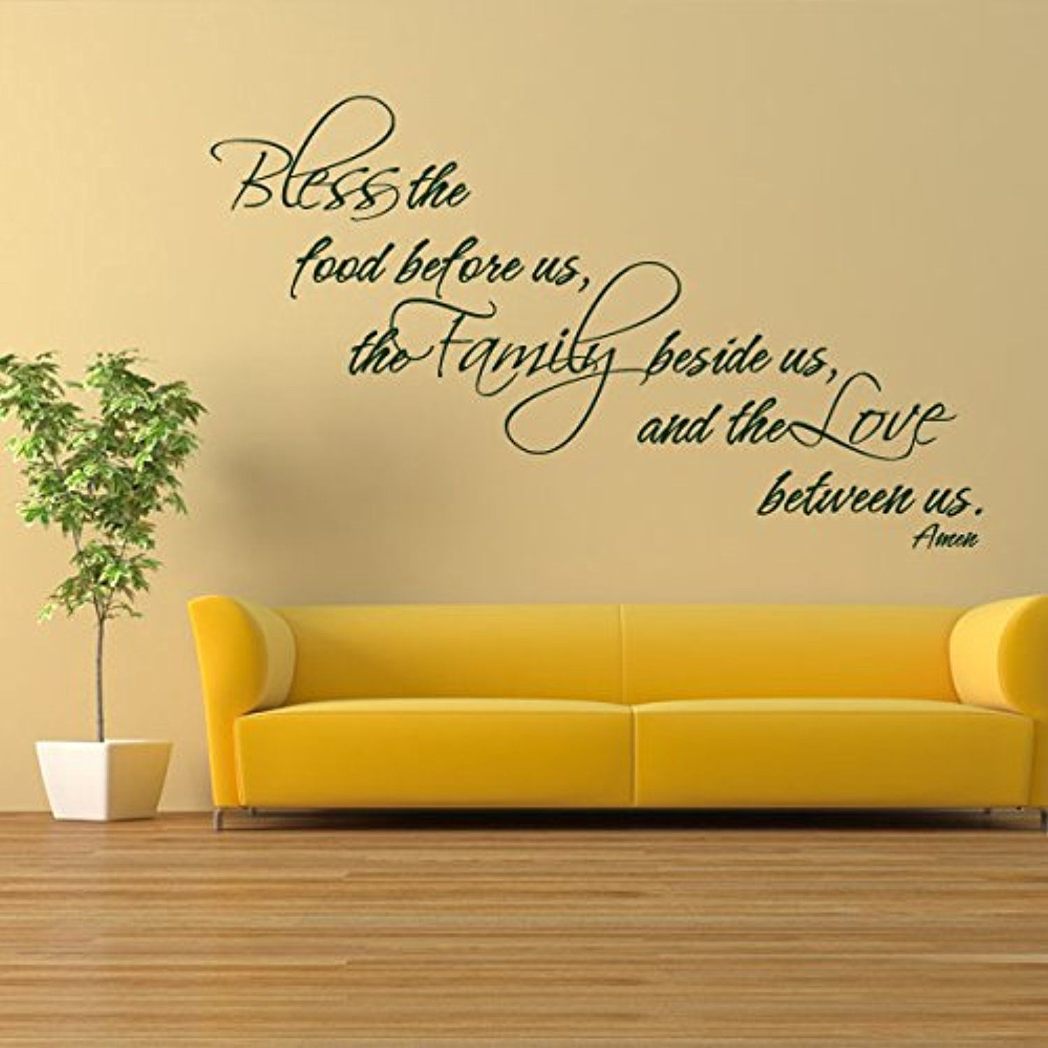 Mairgwall Religious Quote Bible Verse Bless The Food Before Us