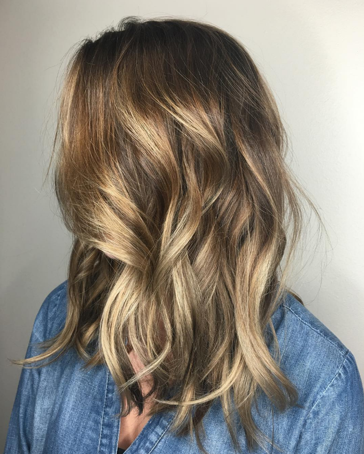 Dark Golden Blonde Balayage Hair Color By Aveda Artist Christina
