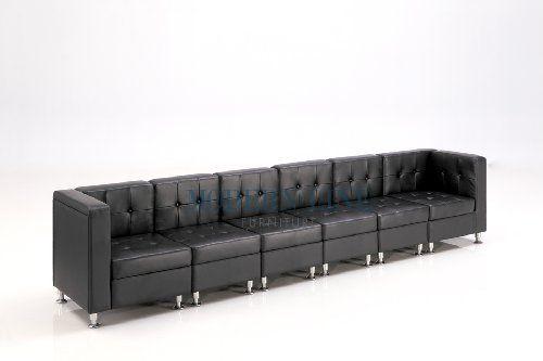 Modular Black Leather Extra Long Sofa ModernLineFurniture,http://www.amazon.