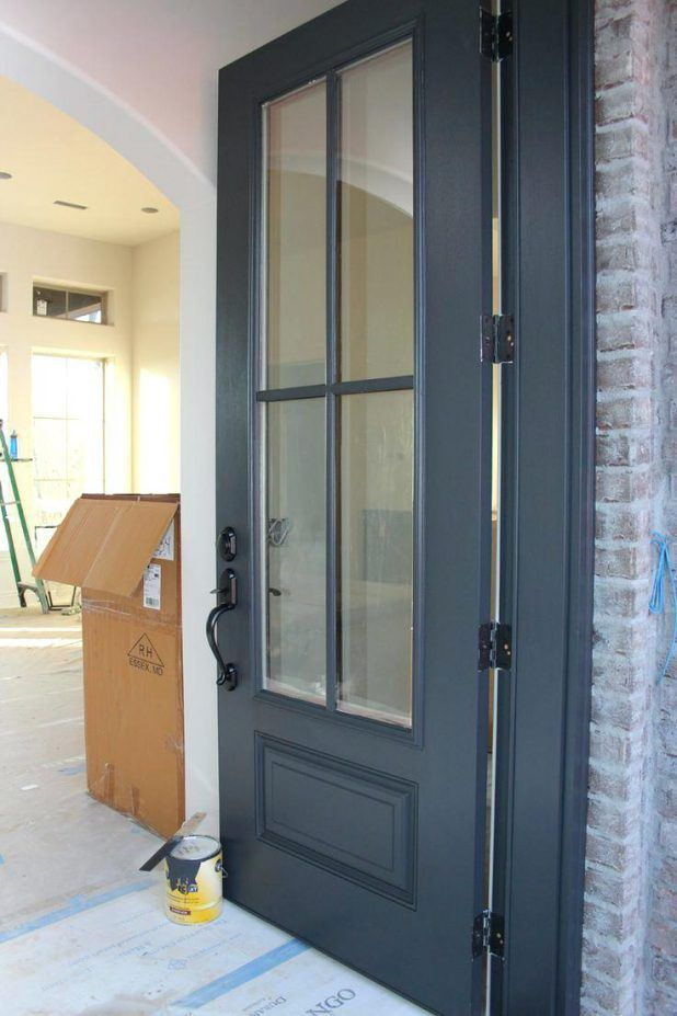 Front Door Color Ideas For Beige House Is Painted With Wrought Iron From Benjamin