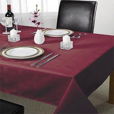 From 7.35 Emma Barclay Chequers Tablecloth Wine 50 X 70 Inch